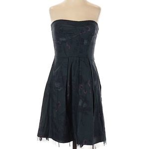 American Eagle | dark green strapless dress